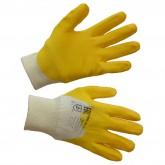 Перчатки нитриловые с частичным покрытием