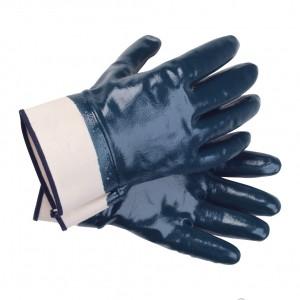 Перчатки нитриловые с крагой