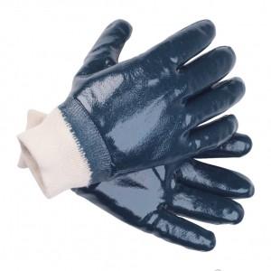 Перчатки нитриловые с трикотажной манжетой